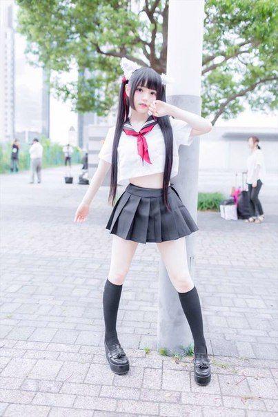 【SEXY DANCE】HOT JAPANESE SCHOOLGIRL BLACK STOCKINGS FOOT