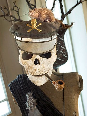 Halloween Decorations that Last All Season Long Pirate skeleton