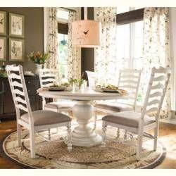 Paula Deen Round Pedestal Table  Linen Finish  Paula Deen Amusing Paula Deen Dining Room Set Decorating Inspiration