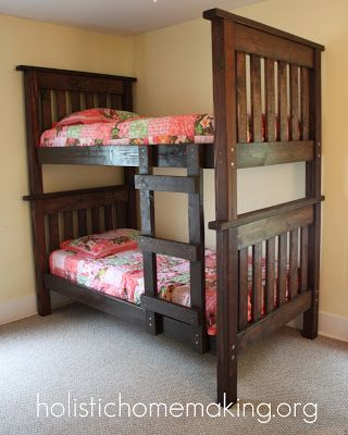 Solid Wood Bunk Bed Holistic Homemaking Link To Building Plans