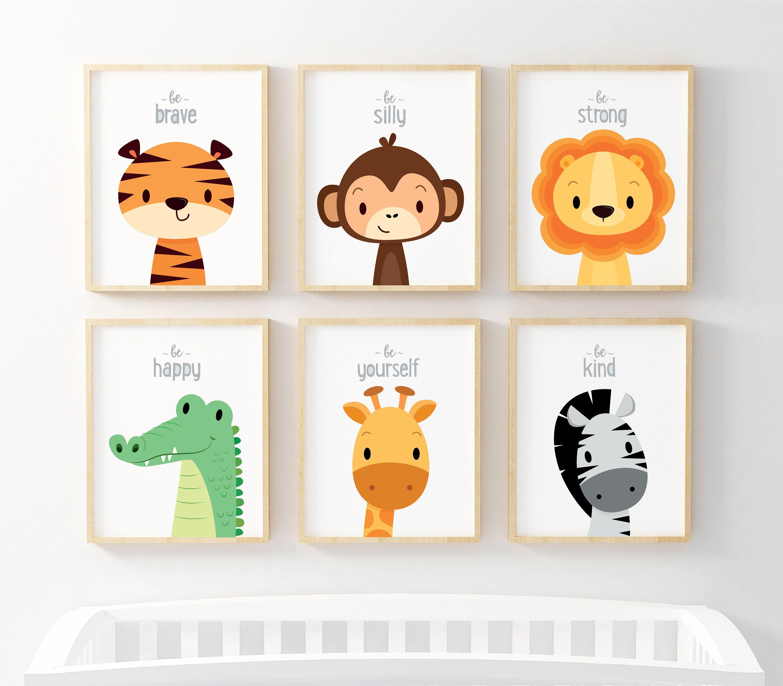 Kids Wall Art Nursery Wall Art Nursery Prints Safari Etsy Nursery Animal Prints Art Wall Kids Safari Nursery Decor