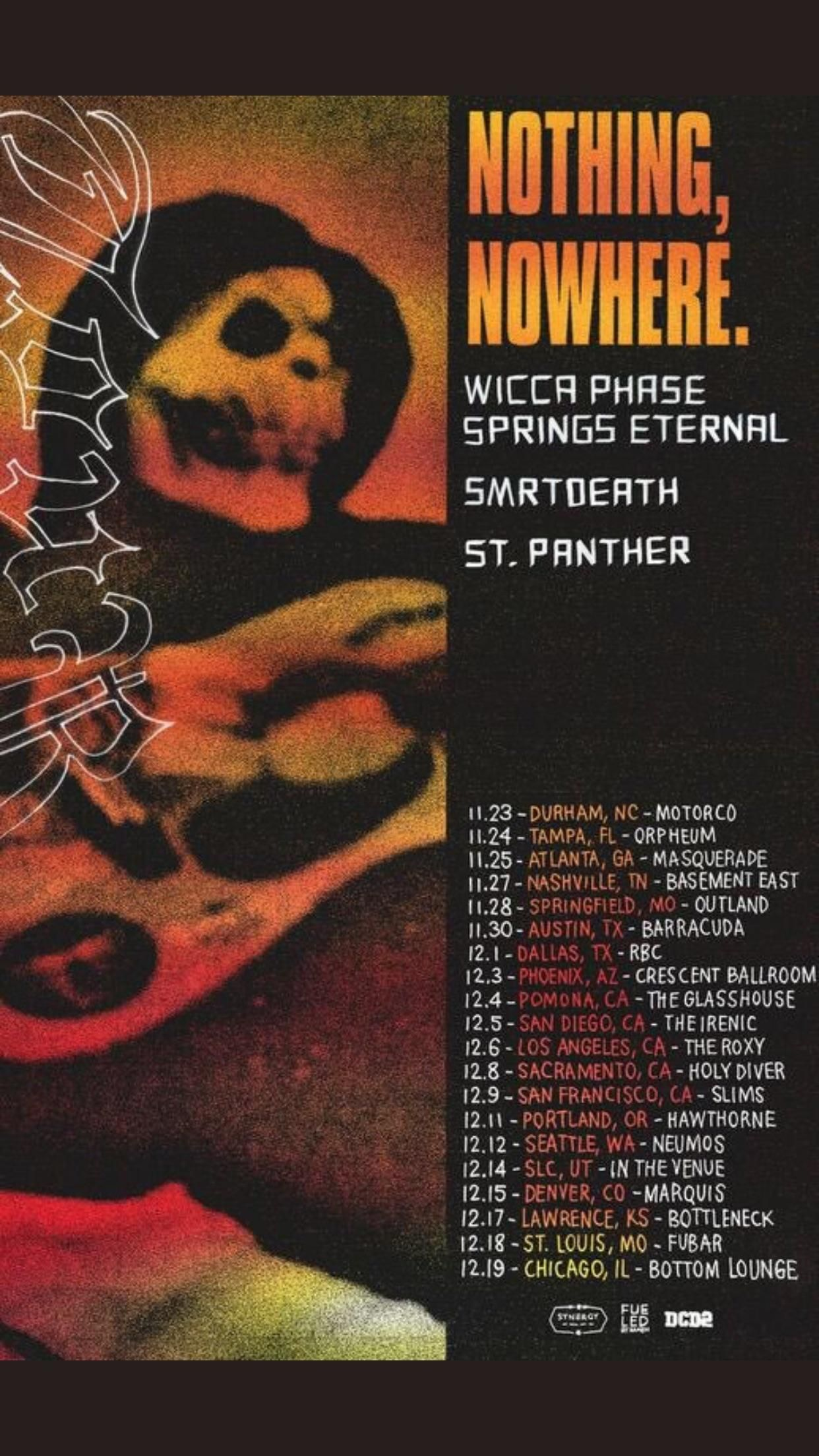 Nothing Nowhere Wicca Phase Smrtdeath Upcoming Us Wicca Springfield Mo Holy Diver