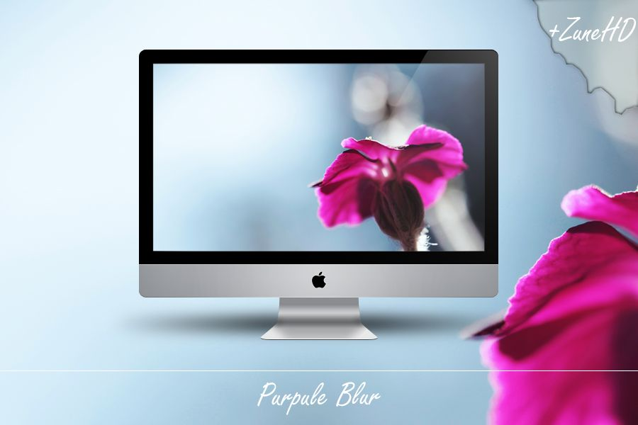 Purpule Blur Blur Wallpaper