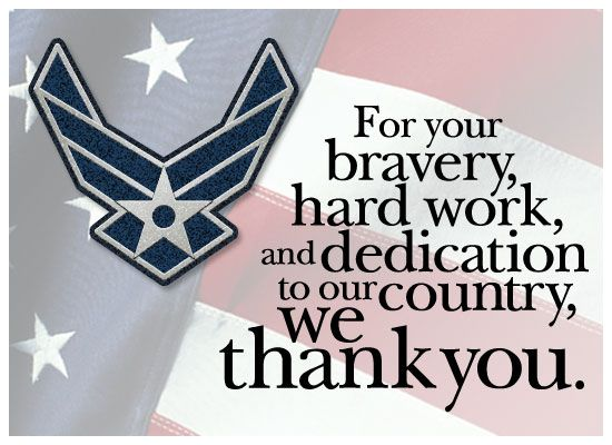 Thank an Air Force vet for his or her service with this