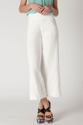3ffceb52 NEW $118 Anthropologie Elevenses Sweeping Wide Leg Ivory Linen Pants ...