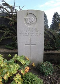 Private George Plowright 5th Battalion Kings Own Yorkshire Light