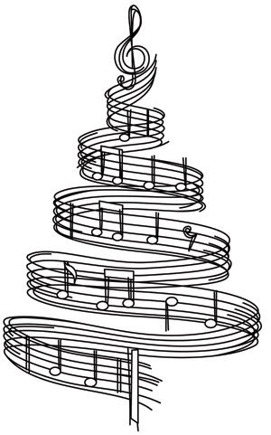 Christmas Music Notes.Pin On Coloring Pages
