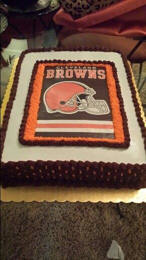 Cleveland Browns Cake White Cake With Butter Cream Frosting