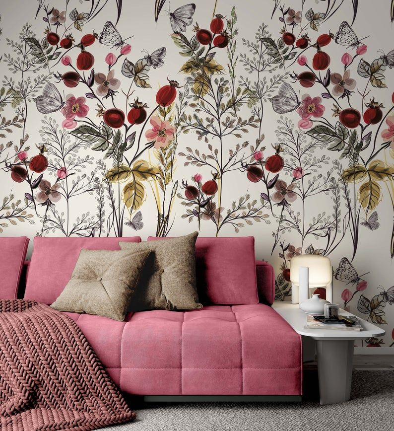 Peony Wall Decal Floral Wall Decals Watercolor Peony Large Etsy Floral Wall Decals Home Decor Mural Wallpaper