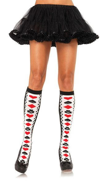 9fc5dc4fb Card Suit Knee Highs tights