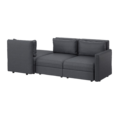 Vallentuna canap 3 places couch hillared gris fonc - Ikea canape vallentuna ...