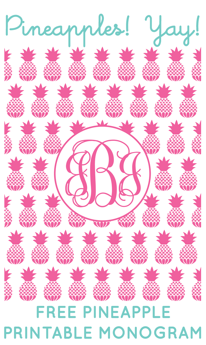 graphic about Printable Monogram Maker named Cost-free Pineapple Printable Monogram Manufacturer versus