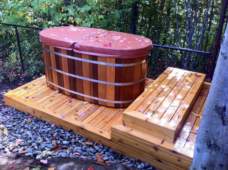 Japanese Soaking Tub Outdoor Diy Diy Outdoor Soaking Tub The