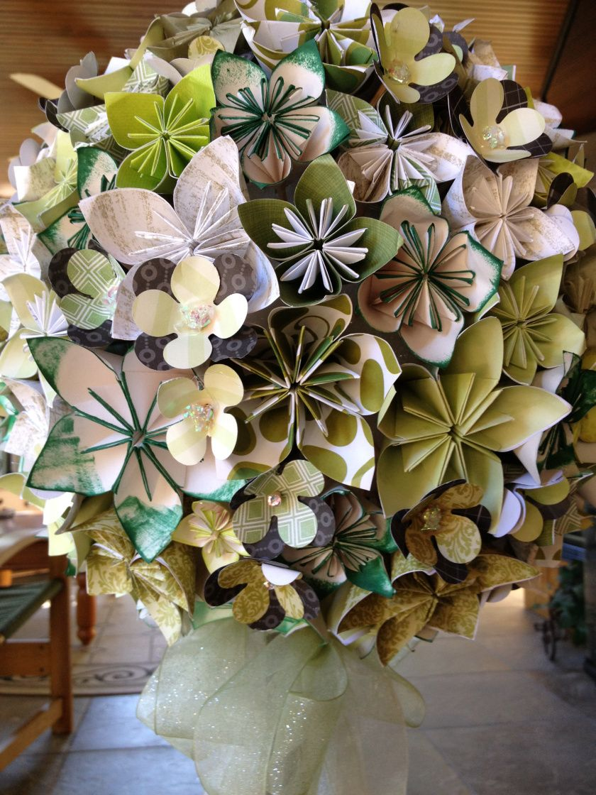 Origami paper flower topiary the wthwit project topiary origami paper flower topiary the wthwit project mightylinksfo