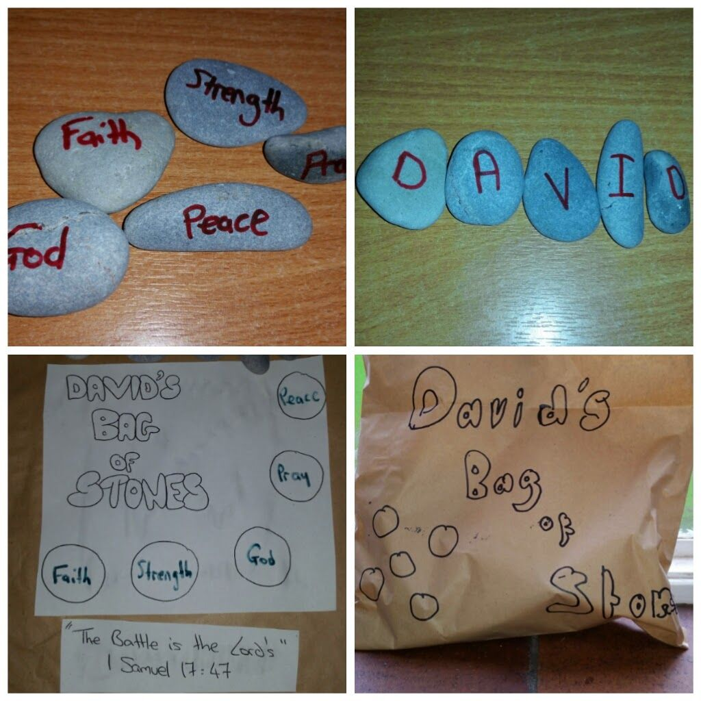 llm calling david and goliath messychurch craft crafts