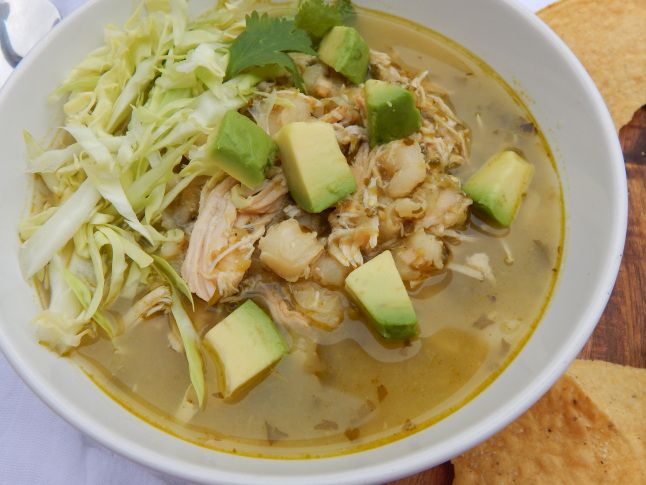 Slow Cooker Chicken Pozole Verde | Recipes to Try: Soups | Pozole, Chicken Recipes, Hominy soup
