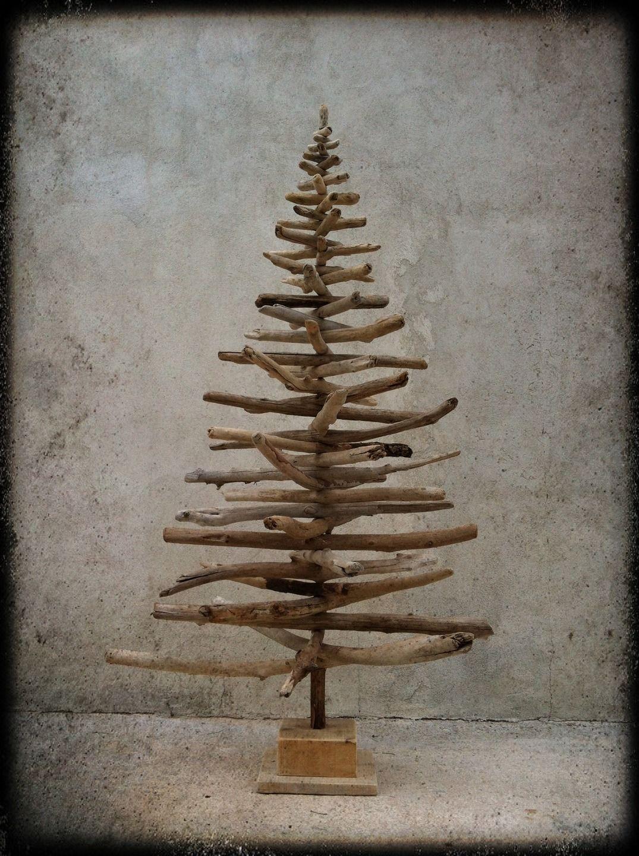 arbre de no l en bois flott s d montable 180cm christmas. Black Bedroom Furniture Sets. Home Design Ideas