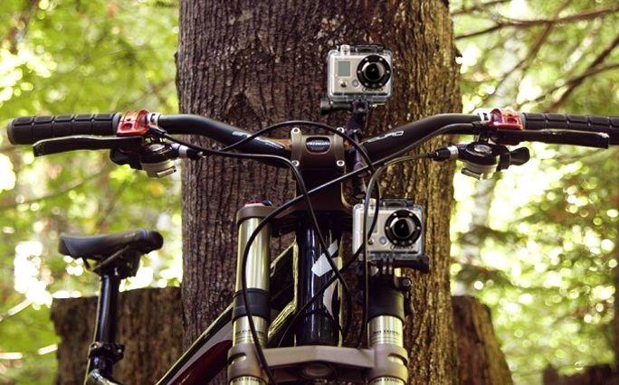 Handlebar And Seat Post Bicycle Camera Mount Gopro Ride Hero