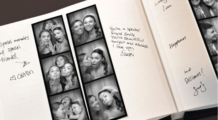 Photo Strip Wedding Book! I want to do this for the guest book ...