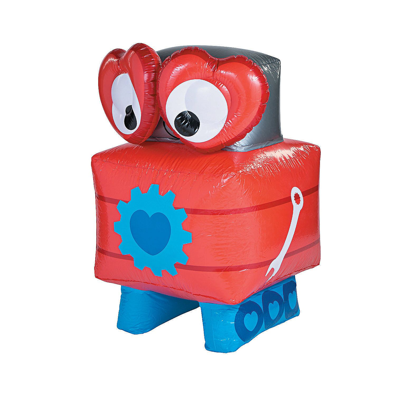Inflatable Valentine Robot Oriental Trading Valentines Robots Kids Valentine Boxes Oriental Trading