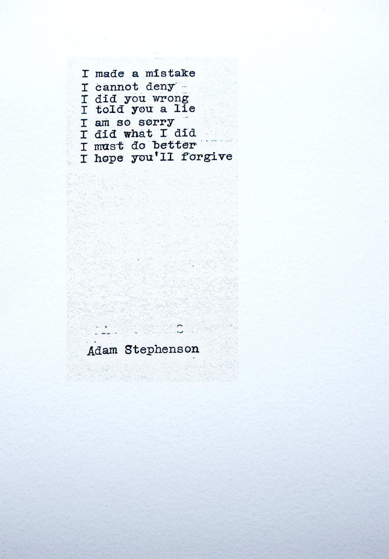 PLEASE FORGIVE ME original Poem Poetry Irish Hand typed ...