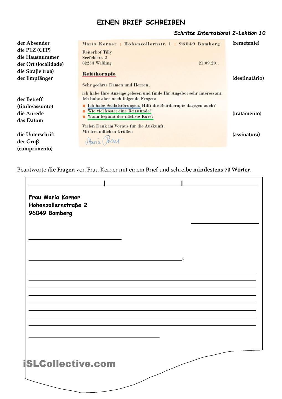 Einen Brief Schreiben Der Brief Briefe Schreiben Deutsche