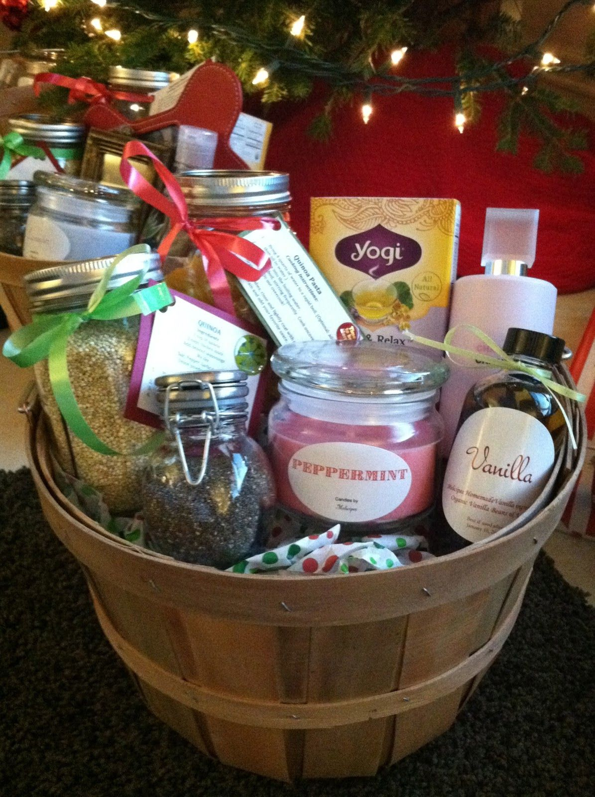 Healthy Homemade Gift Baskets- Could put: Bath salts, candle, aroma ...
