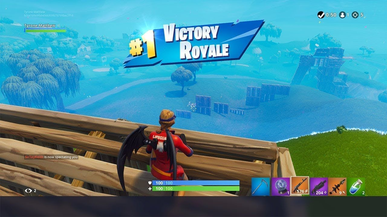 Getting A 5 Kill Solo Win With The New Heavy Ar In Fortnite