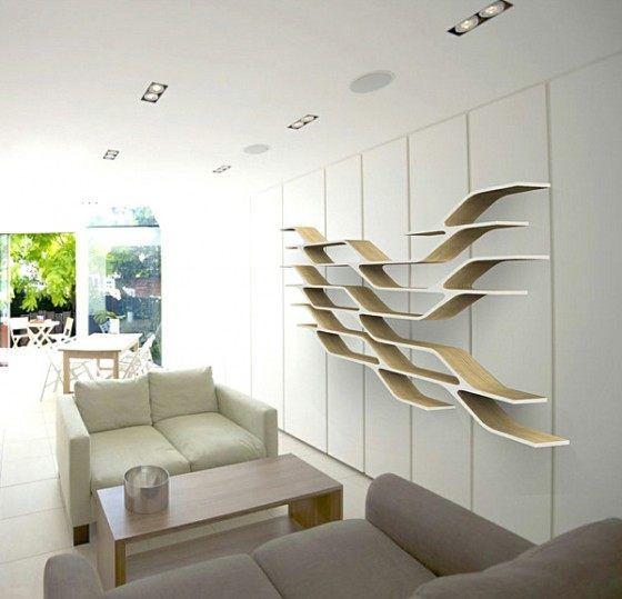Repisas de madera y modernas para la pared minimalist - Repisas de marmol ...