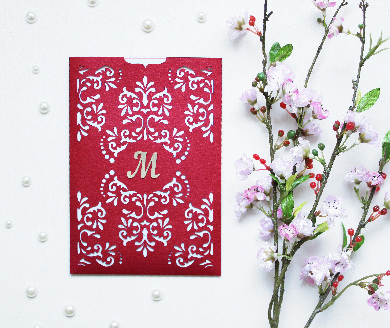 Wedding invitation - SVG, DXF, ai, CRD, eps - Vintage Lace - Laser ...