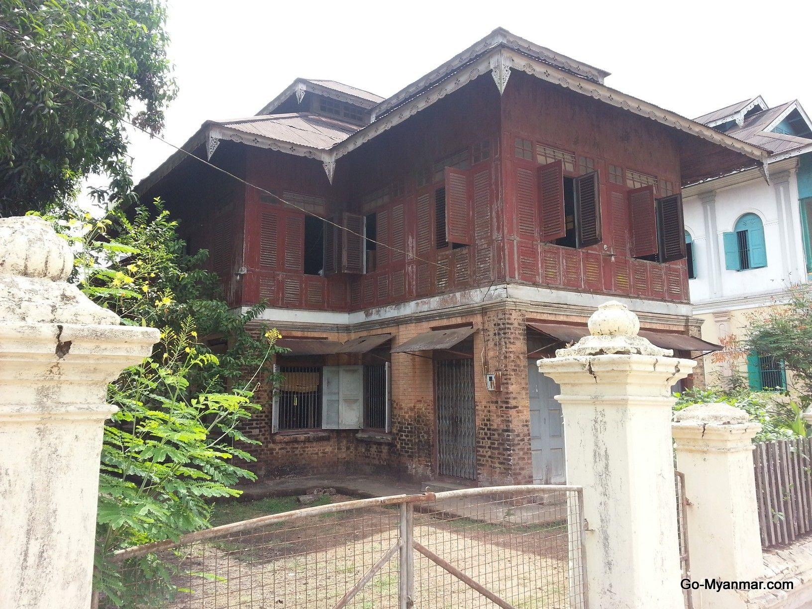 colonial era house in dawei myanmar burma go here for