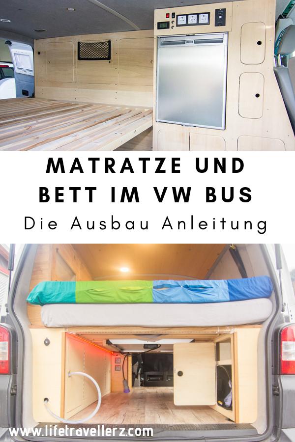 Vw T5 Ausbau Bett Und Matratze Von Dormando Ausbau Vw Bus Ausbau Campingbus Ausbau