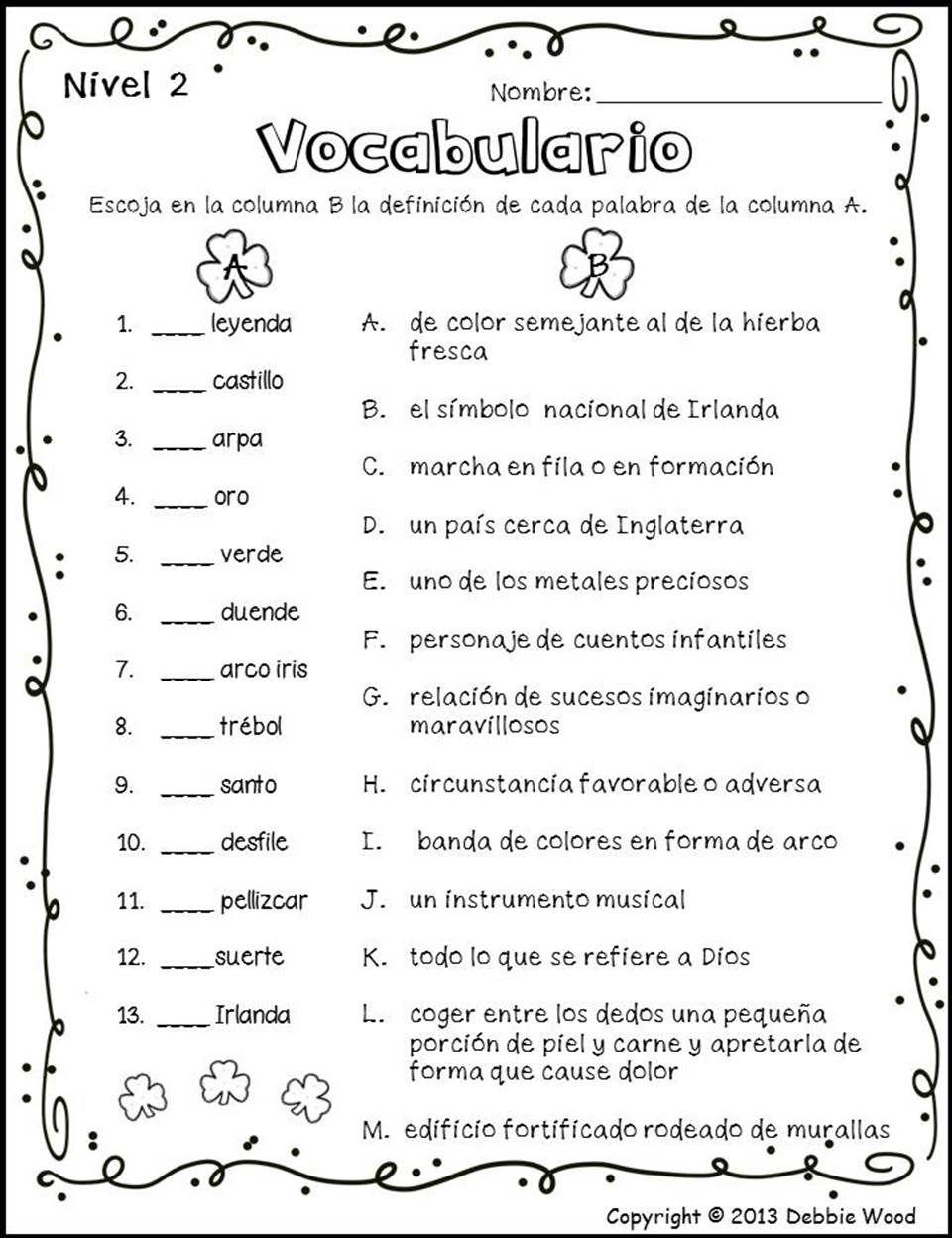 Spanish St Patrick S Day Dia De San Patricio Classroom Language How To Speak Spanish Learning Spanish [ 1248 x 960 Pixel ]