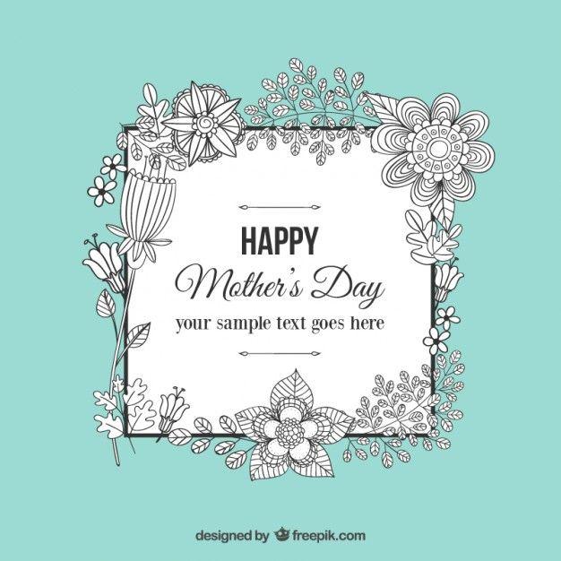 Dia das mães Doodle floral greeting