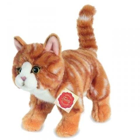 Kat bamse | Teddy-Hermann, kat stående rødstribet 20cm
