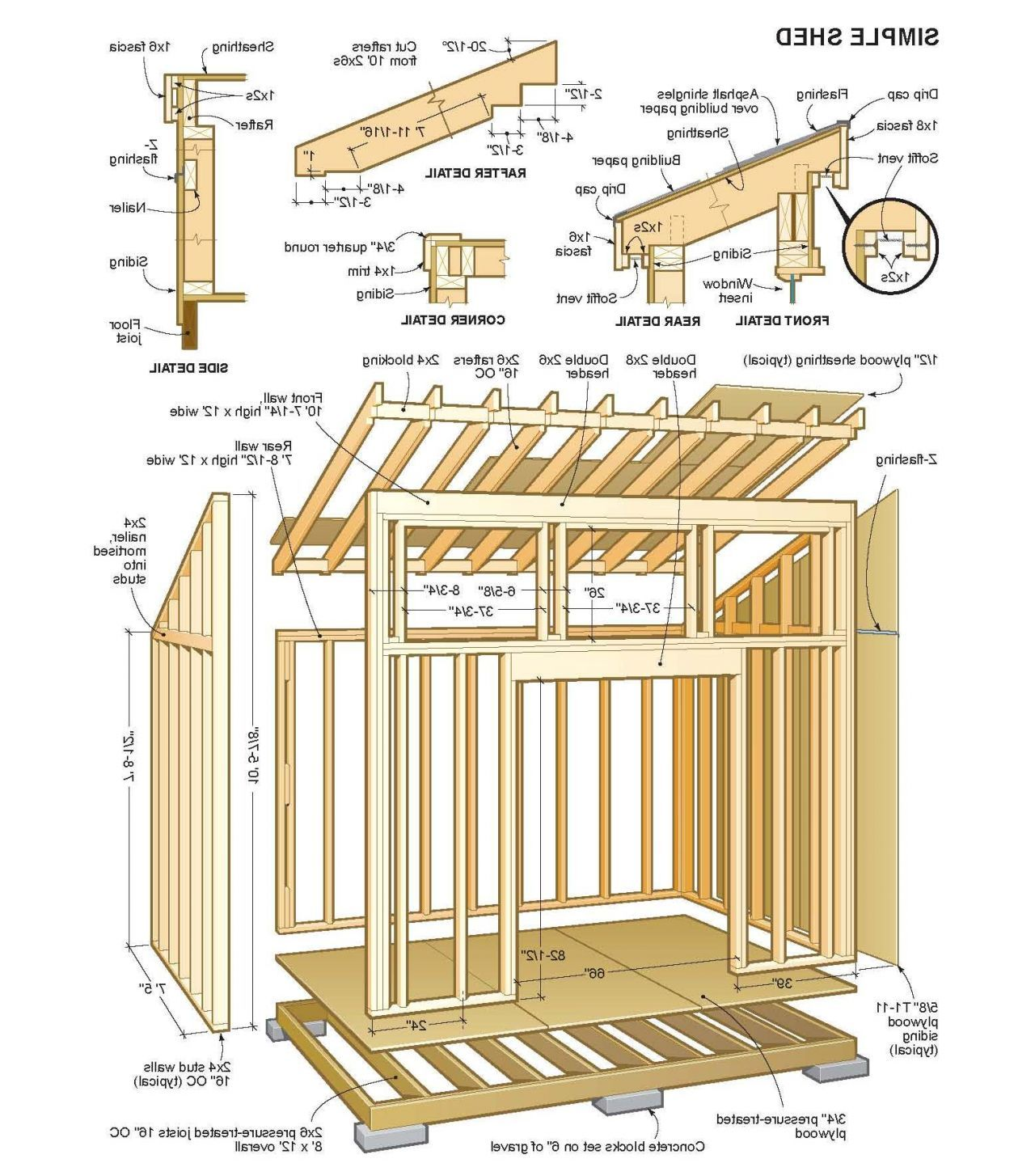 Modern shed plans 10 12 for Contemporary shed plans