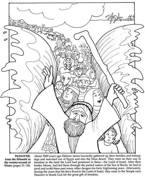 Jewish Tradition - Passover Coloring Pages - News - Passover ...