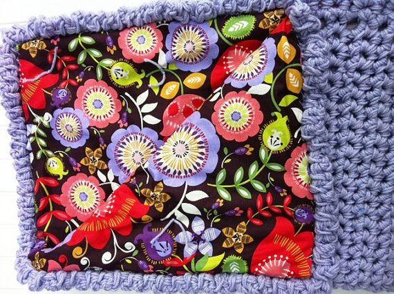 Crochet Reversible Baby Blanket Crochet by BevsCrochetCreations