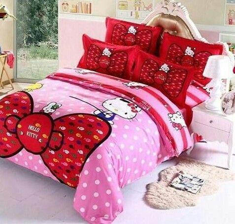 Cubre Cama Lazos Kitty Hello Kitty Bedroom Set Hello Kitty Bedroom Furniture Hello Kitty Bed