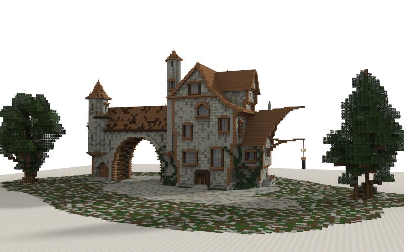 Medieval House I Made In Minecraft Download Link Httpwww - Minecraft mittelalter haus schematic