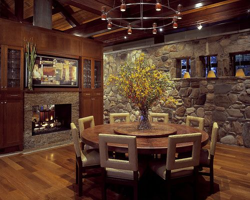 44+ Round rustic dining room table ideas