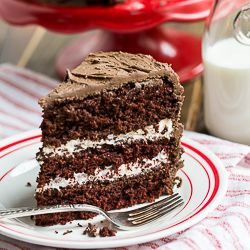 Chocolate Layer Cake with Cream Filling