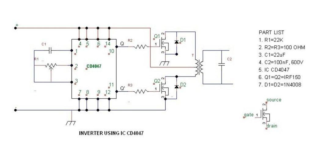simple 100 watt inverter circuit | Circuit projects ...