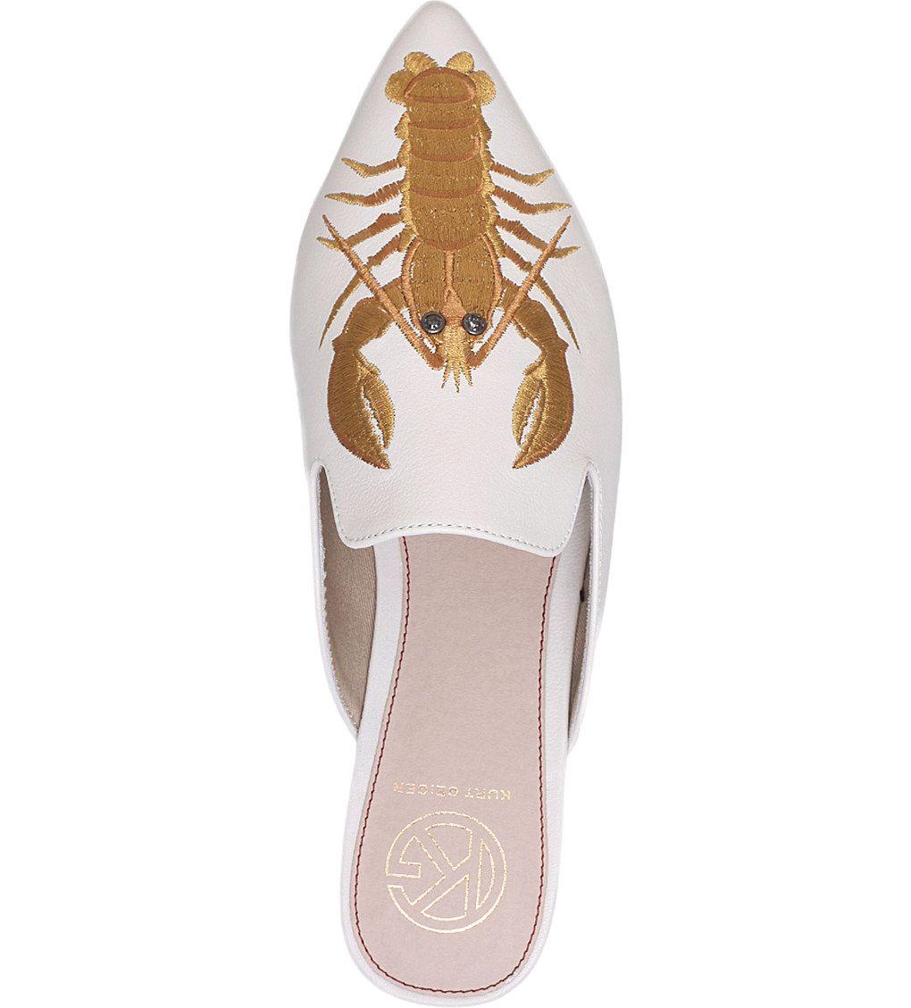 KG KURT GEIGER Otter lobster embroidered leather mules