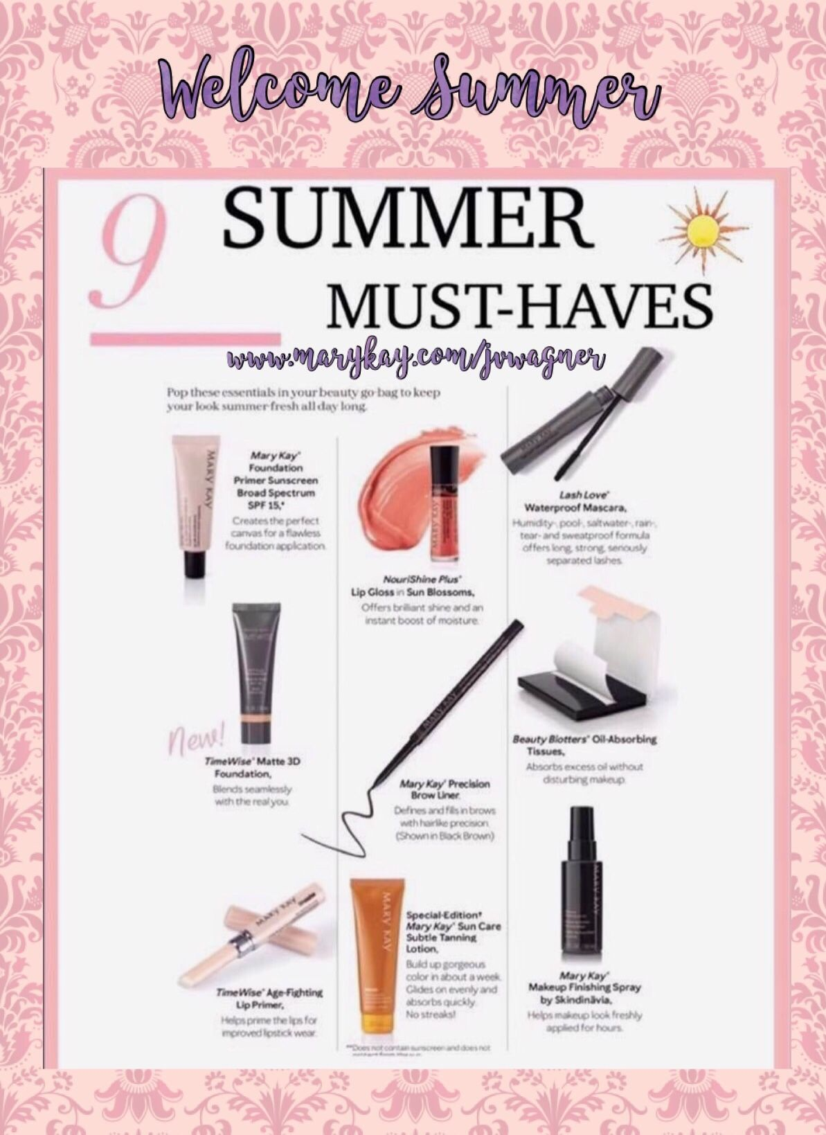 First Official Day of Summer! 🌞 List of Skin MustHaves