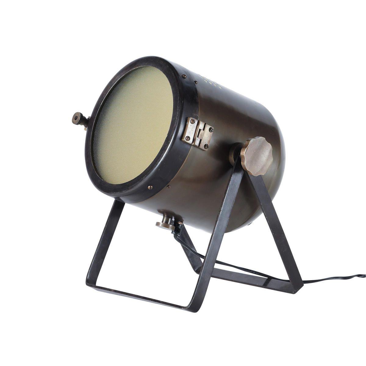 lampe projecteur orientable en m tal et verre bronze h 31. Black Bedroom Furniture Sets. Home Design Ideas