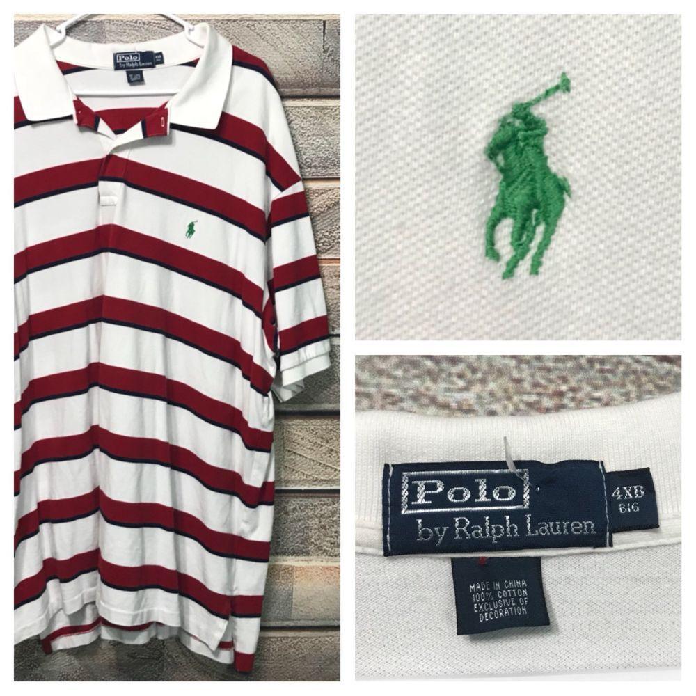 2754180d4 Ralph Lauren Polo Shirt Mens 4XB 4X 4XL Big White Red Blue Green Pony  Stripes