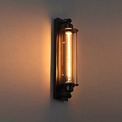 Pauwer industrial wall light edision vintage wall sconce light pauwer industrial wall light edision vintage wall sconce light fixture metal cage wall mounted besides lamps mozeypictures Choice Image