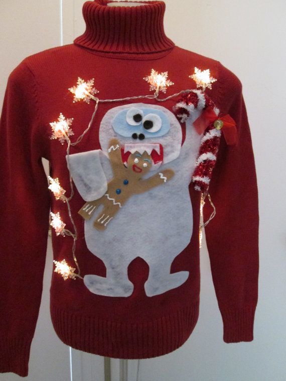 Ugly Christmas Sweater Abominable Snowman Eating by MotherFrakers