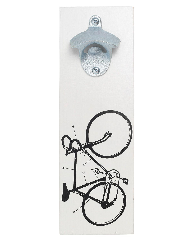 Wall Mounted Bicycle Bottle Opener Beer Key Wall Art Bike